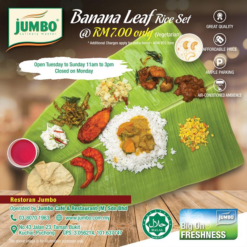 Jumbo Banana Leaf